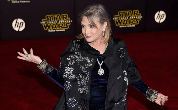 Carrie Fisher, en invierno de 2015./AFP