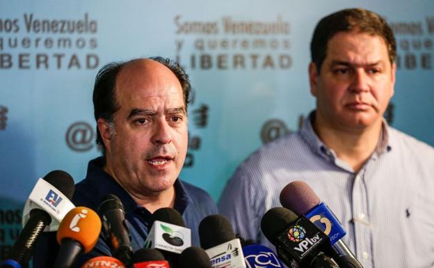 Julio Borges, presidente de la Asamblea Nacional opositora.