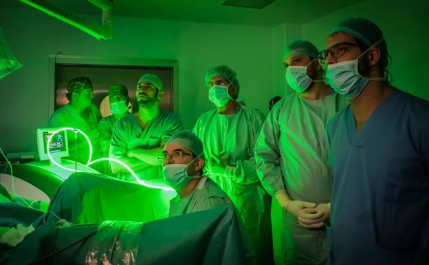 reducción de próstata con puntero láser