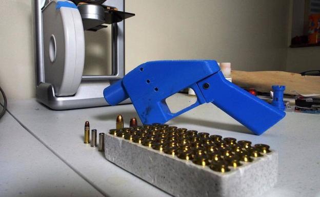 Pistola 'Liberator', cuyos planos estarán disponibles en internet a partir del 1 de agosto.