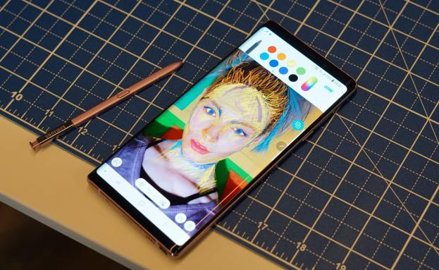 El S-Pen del Note 9 permite dibujar y tomar notas.