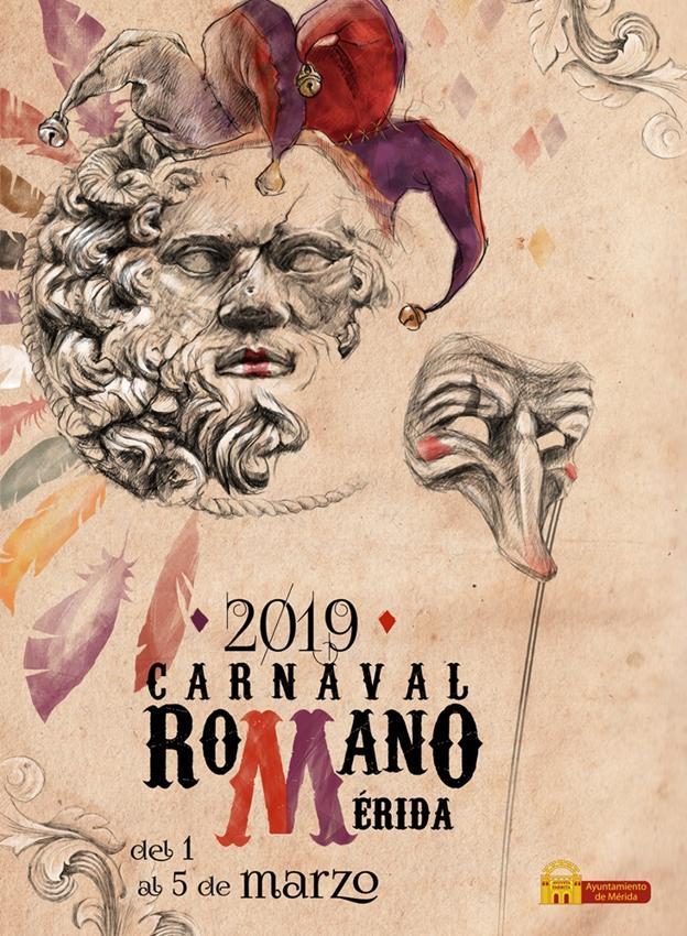 La emeritense Silvia Panea gana el concurso de carteles del Carnaval Romano 2019