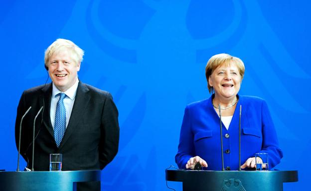 Angela Merkel y Boris Johnson. /Reuters