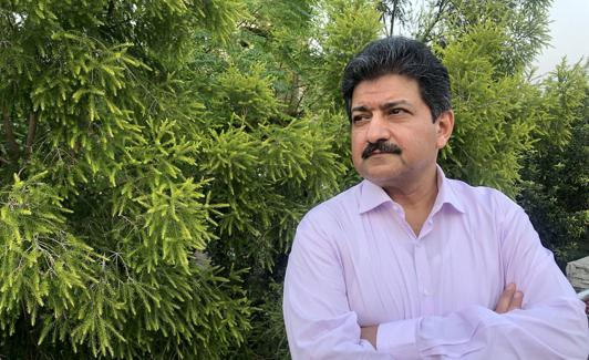 Hamid Mir sa panahon ng panayam sa Islamabad.  / NS.  Istaran