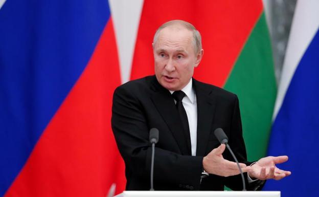 Vladimir Putin, sa panahon ng kanyang hitsura noong Setyembre 9.  / Shamil Zumatov / Reuters