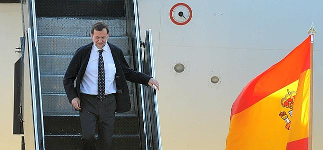 Mariano Rajoy aterriza en Chicago. /Afp | Atlas/